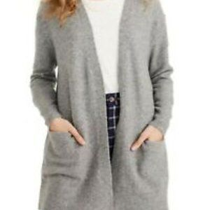 MADEWELL RYDER Gray Open Cardigan Sweater L